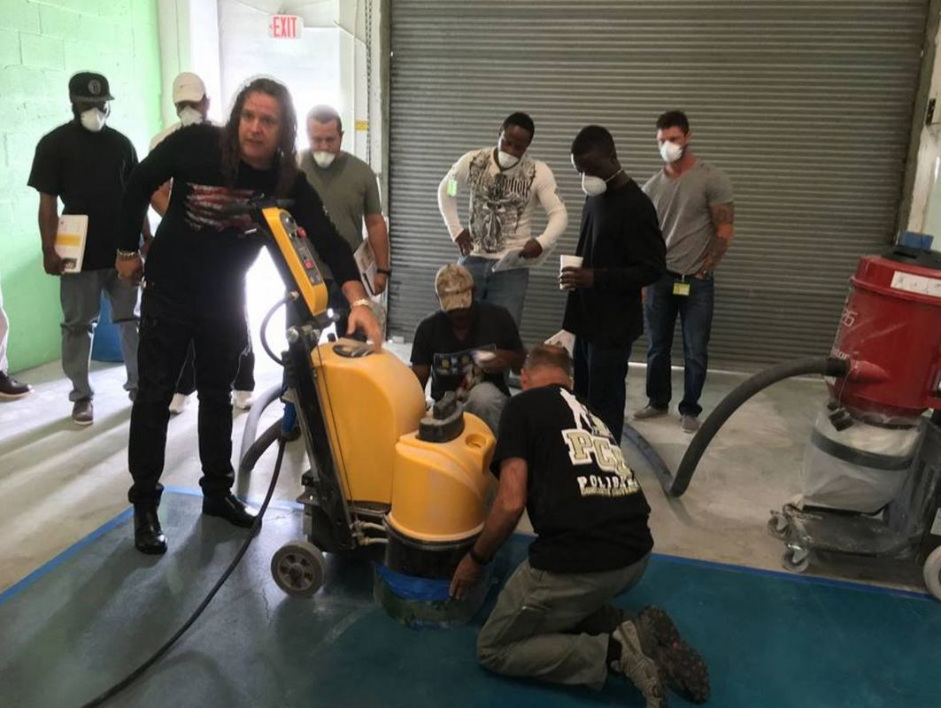 Concrete Polishing and Grinder Training
